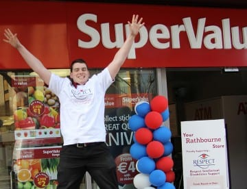 Bernard McGiveny, SuperValu Rathbourne Employee, taking part in The Kube in aid of RESPECT on 16 March