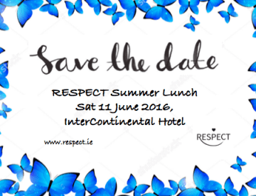 Save the Date Summer Lunch Blue Edge